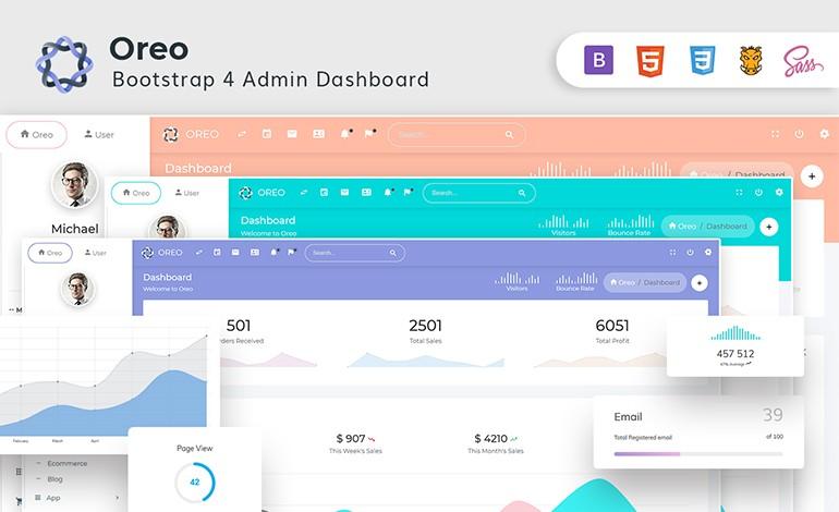 Oreo Bootstrap 4 Admin