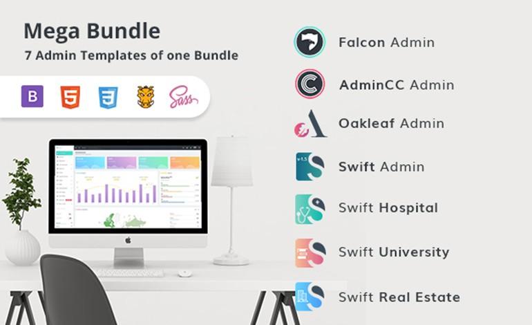 Mega Bundle  7 Bootstrap Premium Admin Template in one Bundle