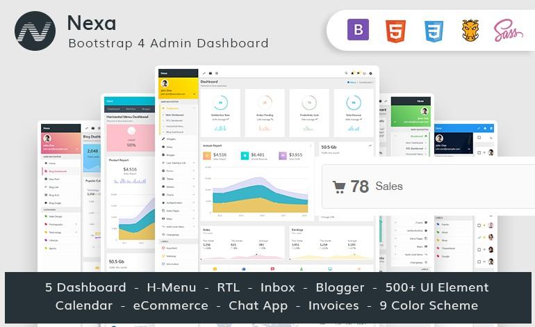 Nexa Bootstrap4 Material Design Premium Admin Dashboard