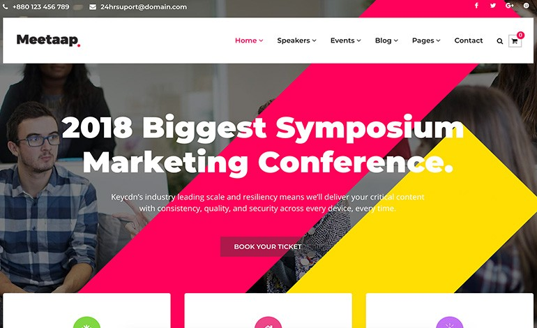 Meetaap Event Conference WordPress Theme
