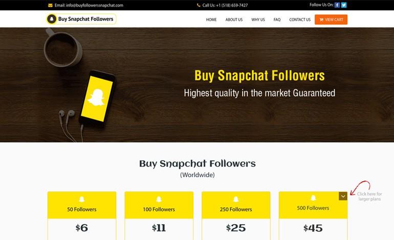 Buy Followers Snapchat