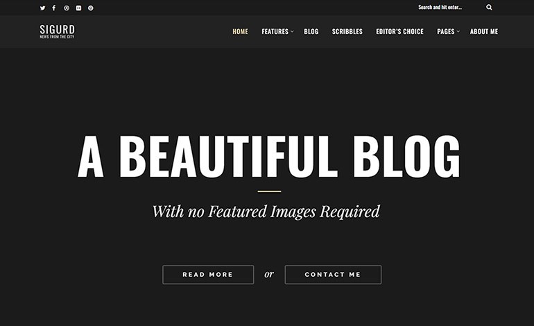 Sigurd A WordPress Blog For Writers
