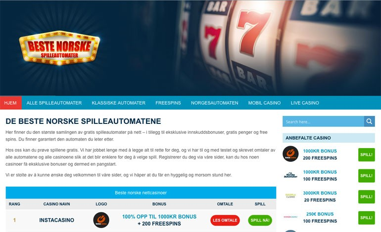 Beste norske casino