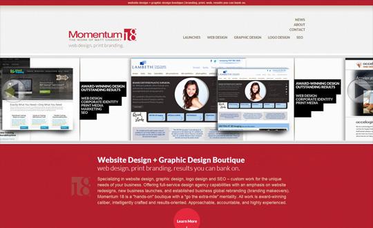 Momentum 18 Web Design