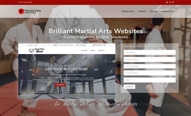 Martial Arts Website Design