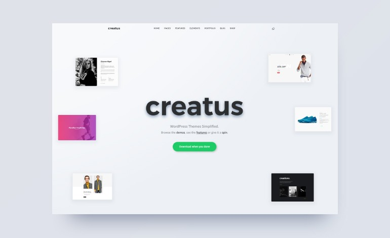 Creatus Ultimate Multipurpose WordPress Theme