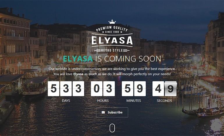Elyasa Coming Soon WordPress Plugin