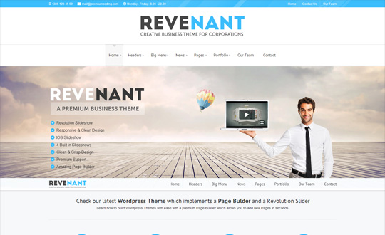Revenant a Business Wordpress Theme