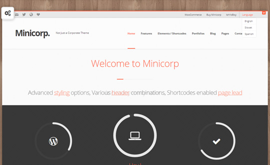 Minicorp WP Not Just a Corporate Theme