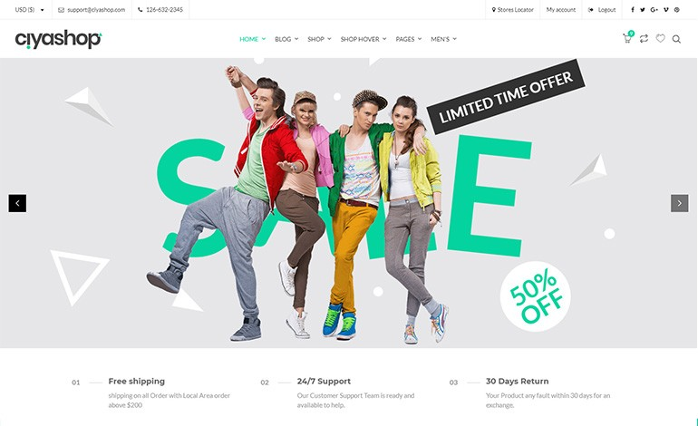 CiyaShop Responsive Multi Purpose WooCommerce WordPress Theme