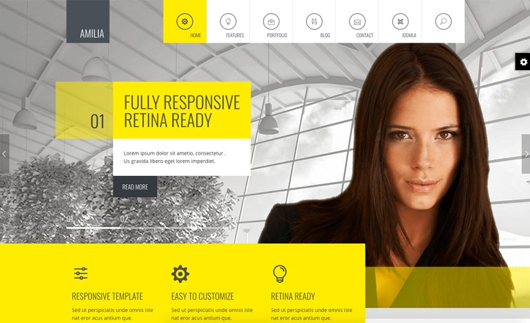 Amilia Responsive MultiPurpose Joomla Theme With Page Builder