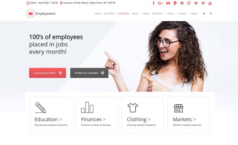 Employment WordPress Theme