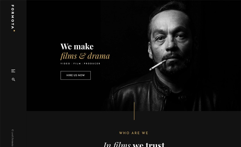 Formota Movie Studios and Filmmaker WordPress theme