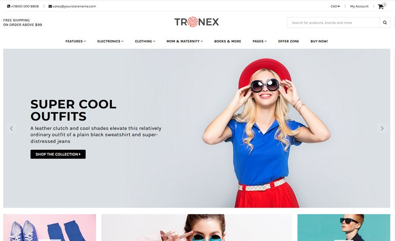 Tronex Multipurpose Shopify Template