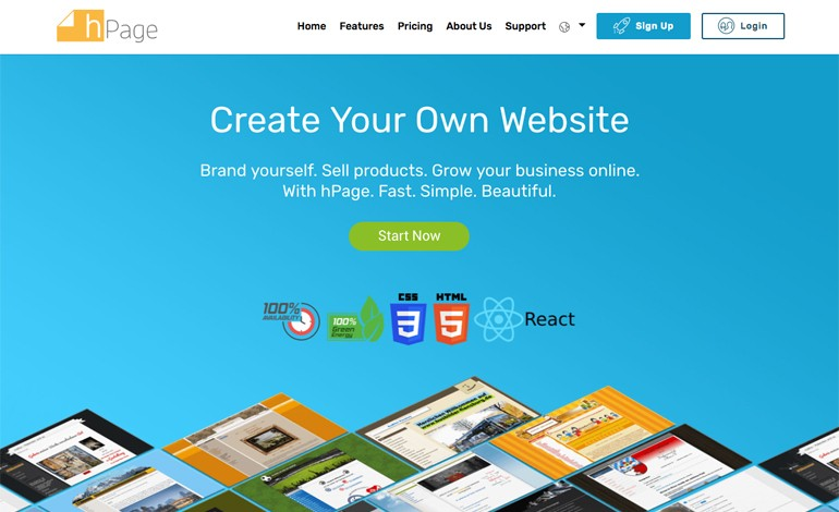 hPage Free Website Builder