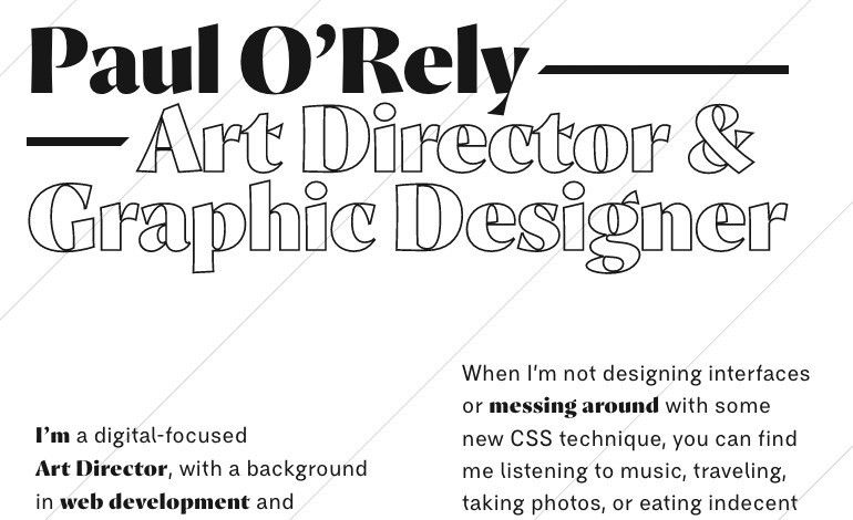 Paul ORely Art Director and Graphic Designer