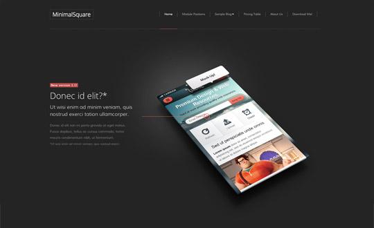 MinimalSquare Joomla Template Demo