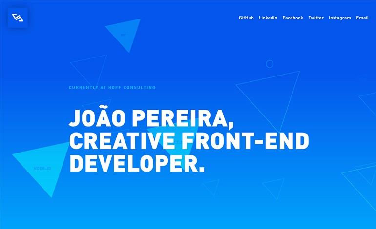 Joao Pereira Creative Frontend Developer