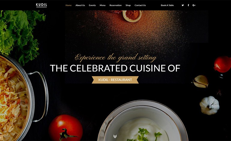 Kudil Restaurant WordPress Theme