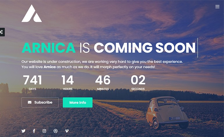 Arnica Creative Coming Soon Template