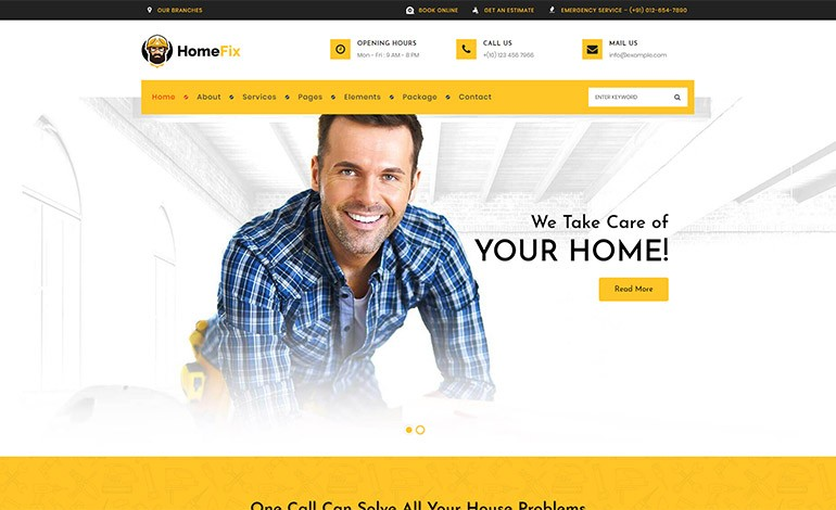HomeFix Handyman WordPress Theme