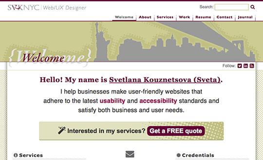 SVKNYC Portfolio of Svetlana Kouznetsova