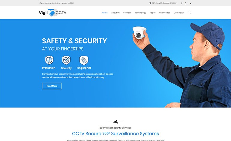 Vigil CCTV WordPress Theme