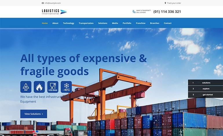 Logistics Transport WordPress Theme