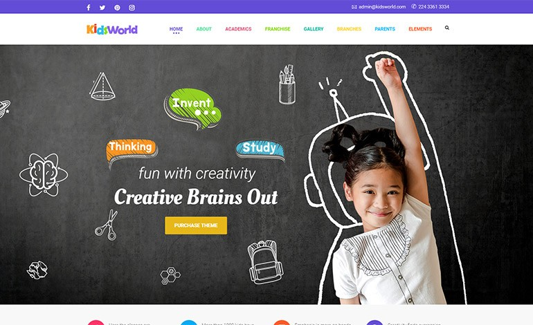 Kids Heaven Children WordPress Theme