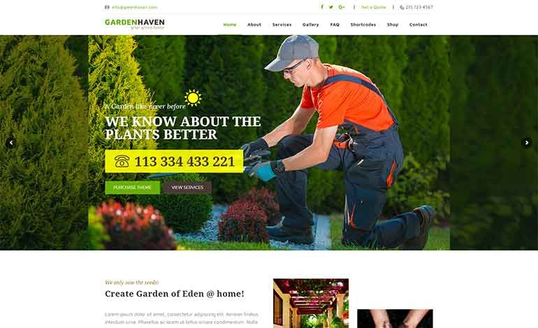 Garden Heaven Gardening WordPress Theme