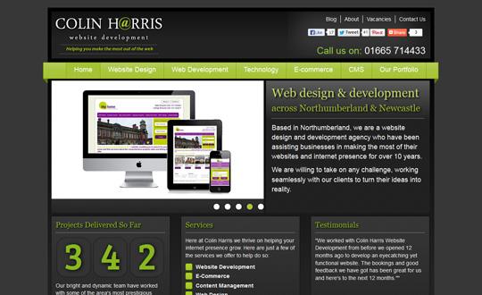 Colin Harris Website Development
