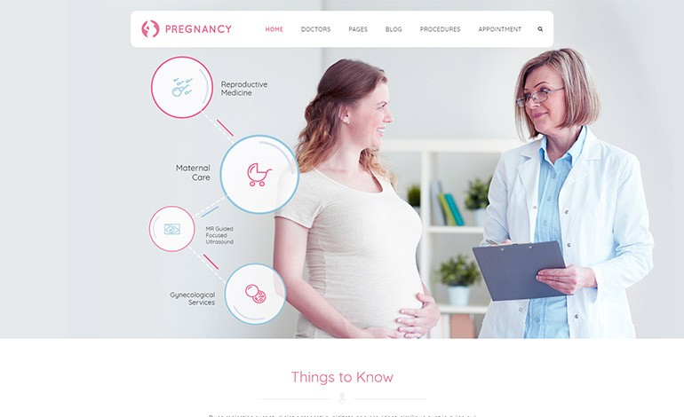 Pregnancy Medical WordPress Theme