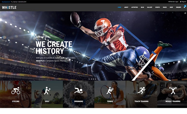 Whistle Sport WordPress Theme