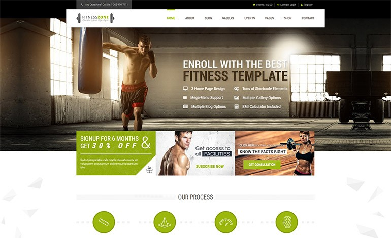 Fitness Zone Gym WordPress Theme