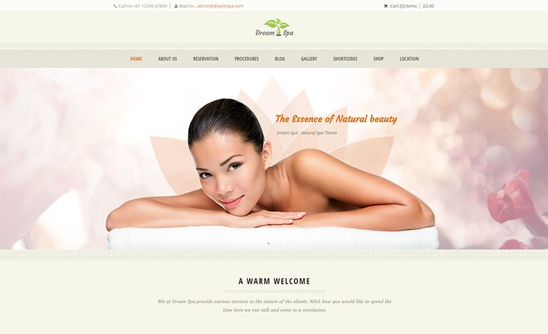 Dream Spa WordPress Theme