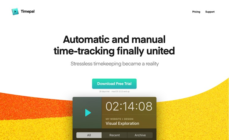 Timepal Automatic Time Tracking