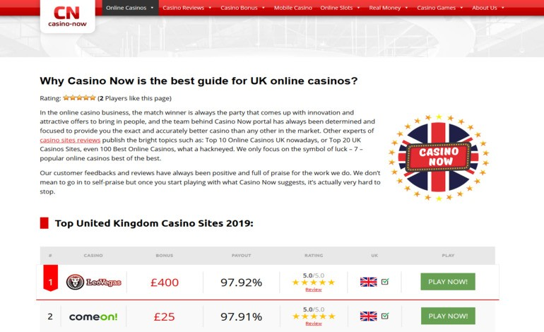 Online casinos for UK