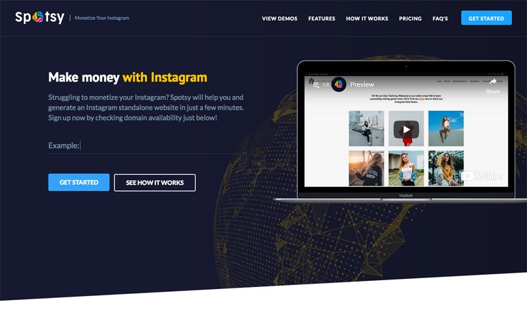 Spotsy Monetize Your Instagram