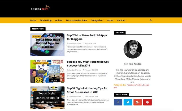 Blogging Spark