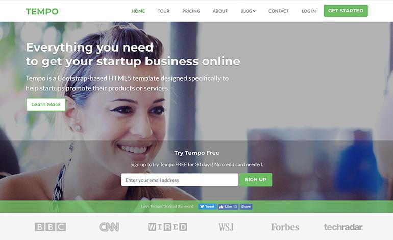 Tempo Bootstrap 4 Theme