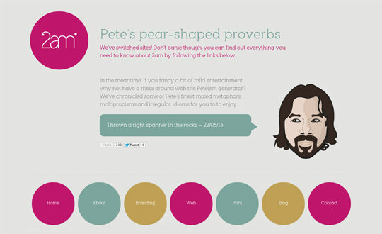 Pete's pear-shaped proverbs