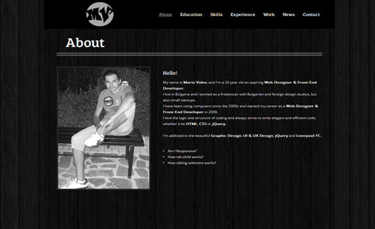 Mario Vidov Web Designer and Front-End Developer