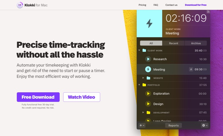 Klokki the Rule based Automatic Time Tracking App