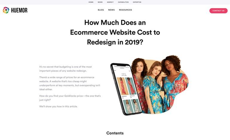 Huemor Ecommerce Website Cost