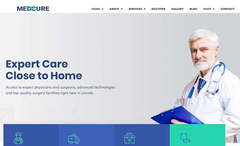 Medcure Health and Medical Care WordPress Theme