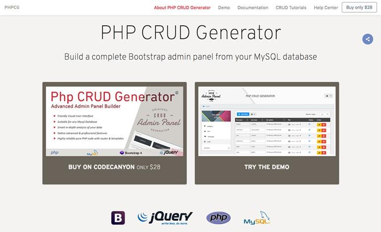 PHP CRUD Generator