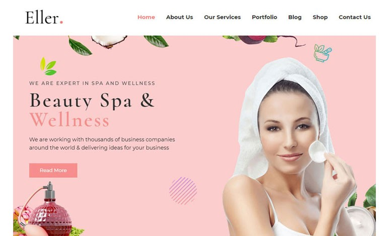 Eller Elegant Spa and Wellness WordPress Theme