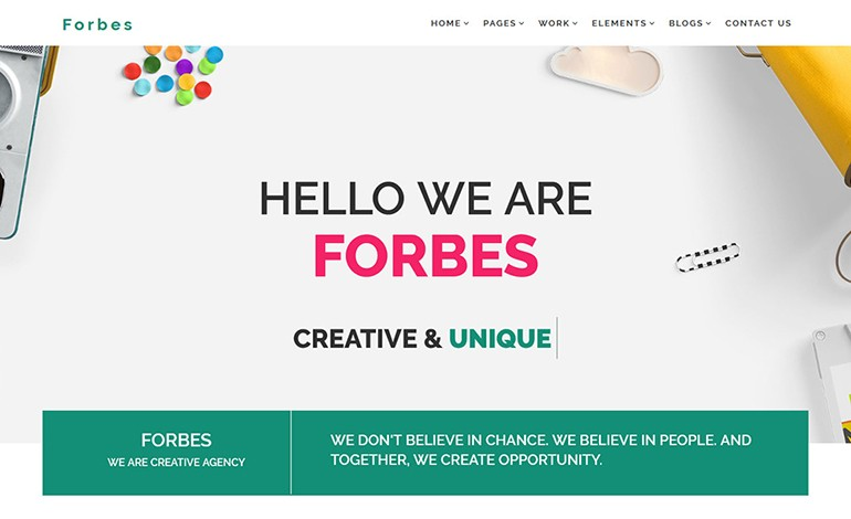 Forbes Multipurpose HTML5 Template