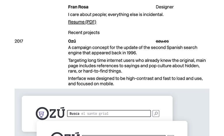 Fran Rosa Designer