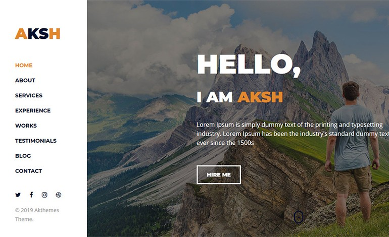 Aksh Personal Portfolio Template